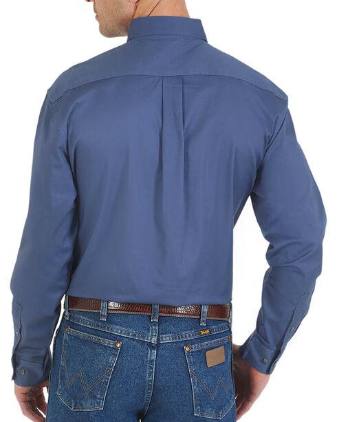 Wrangler Men's Advanced Comfort Long Sleeve Shirt, Navy, hi-res
