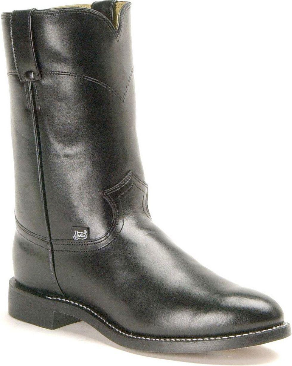 """Justin Men's 10"""" Roper Boots, Black, hi-res"""