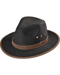 Outback Trading Co. Black Madison River UPF50 Sun Protection Oilskin Hat, , hi-res