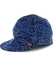 American Worker Men's Paisley Blue Welding Cap, , hi-res