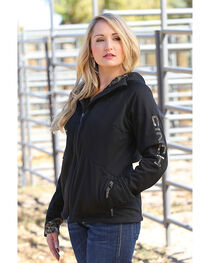 Cinch Women's Black Softshell Bonded Sherpa Jacket , , hi-res