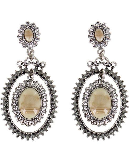 Shyanne® Women's Floral Concho Earrings, Silver, hi-res
