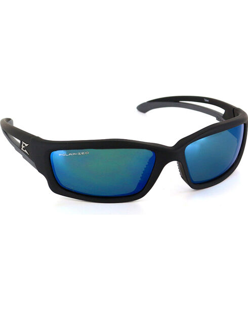 Edge Eyewear Kazbek Polarized Aqua Precision Safety Sunglasses, Black, hi-res