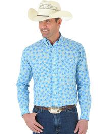 Wrangler George Strait One Pocket Paisley Poplin Shirt, , hi-res