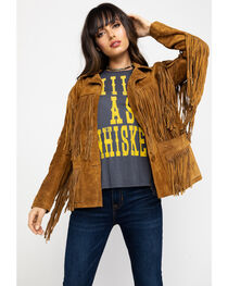 Liberty Wear Fringe Leather Jacket, , hi-res