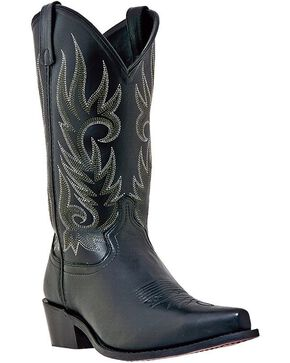 Laredo Men's Willow Creek Snip Toe Western Boots, Black, hi-res