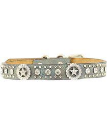 Blazin Roxx Rhinestone Star Concho Dog Collar - S-XL, , hi-res