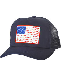 Cody James Men's Navy Gun Flag Trucker Cap, , hi-res