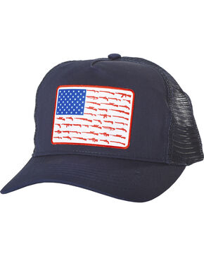 Cody James Men's Navy Gun Flag Trucker Cap, Navy, hi-res