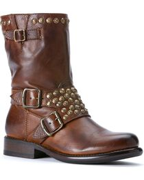 Frye Women's Jenna Studded Harness Short Boots - Round Toe, , hi-res