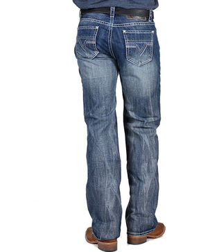 Rock & Roll Cowboy Men's Double Barrel Relaxed Fit Jeans, Medium Blue, hi-res