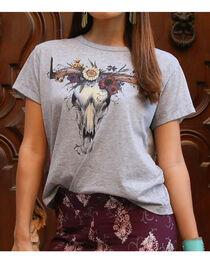 White Crow Women's Floral Skull T-Shirt, , hi-res