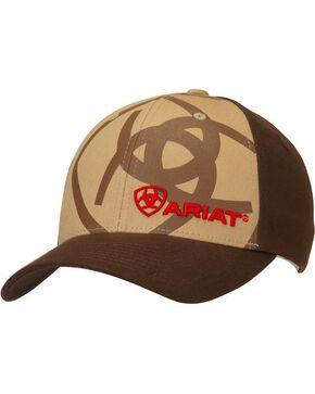 Ariat Men's Logo Ball Cap, Tan, hi-res