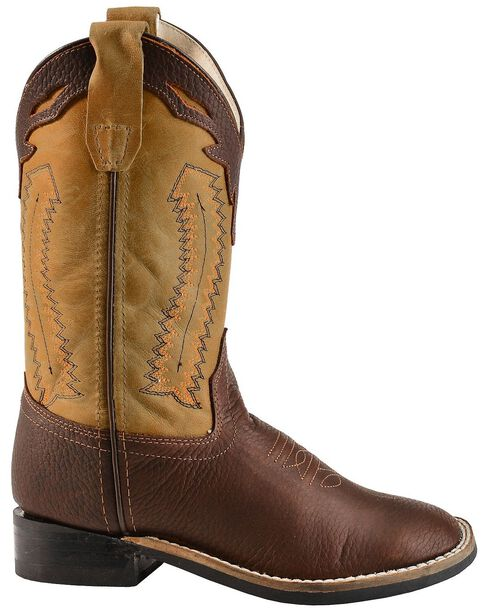 Jama Children's Ultra-Flex Square Toe Western Boots, Oiled Rust, hi-res
