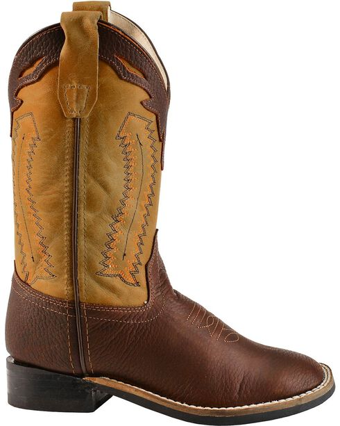 Jama Youth's Ultra-Flex Square Toe Western Boots, Oiled Rust, hi-res