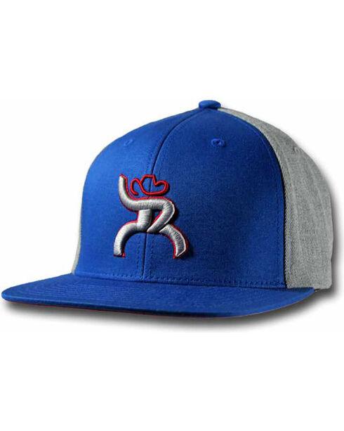 HOOey Boys' Roughy Hawk Snapback Ball Cap, Blue, hi-res