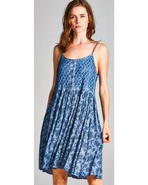 Hyku Women's Indigo Sleeveless Print Dress, , hi-res
