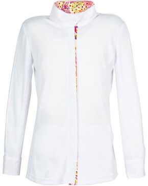 Dublin Girls' Comfort Dry Long Sleeve Show Shirt, Multi, hi-res