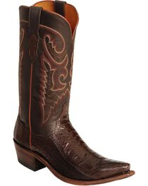 Lucchese Men's Exotic Ostrich Leg Western Boots, , hi-res