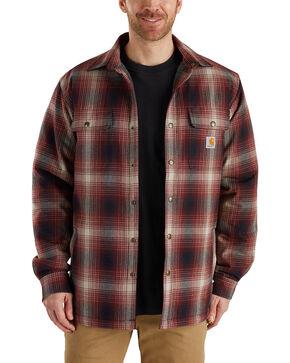 Carhartt Men's Hubbard Sherpa-Lined Shirt Jac , Chestnut, hi-res