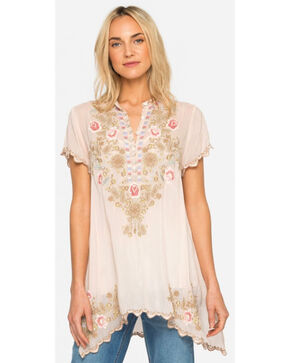 Johnny Was Women's Blush Talum Tunic, Light Pink, hi-res