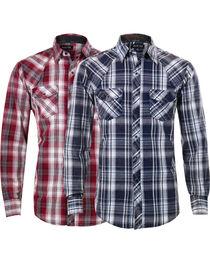 Ely Walker Men's Assorted Plaid Western Shirt, , hi-res