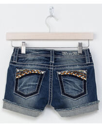 Miss Me Girls' Indigo Well Wishes Embroidered Shorts , , hi-res