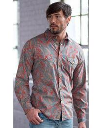 Ryan Michael Men's Spice Vintage Paisley Print Western Shirt , , hi-res
