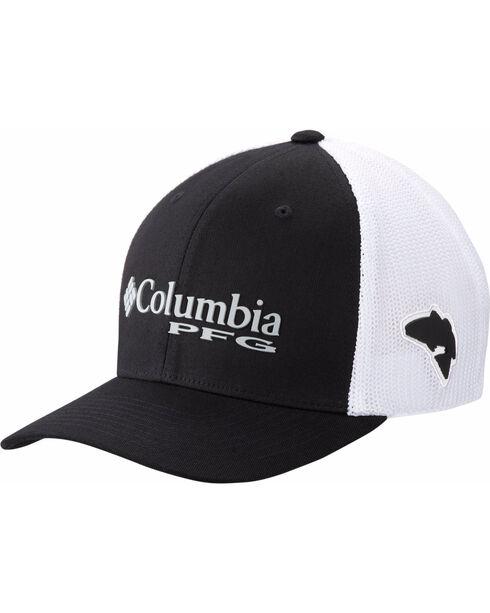 Columbia Men's Trout Performance Ball Cap, Black/red, hi-res