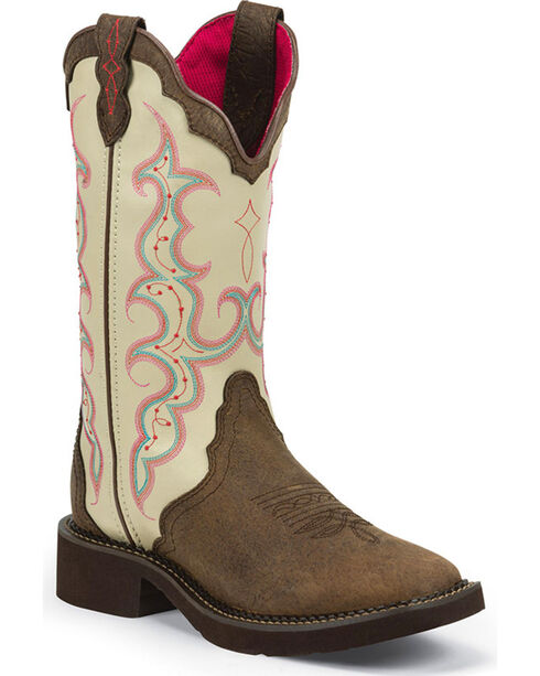 Justin Women's Barnwood Gypsy Western Boots, Brown, hi-res