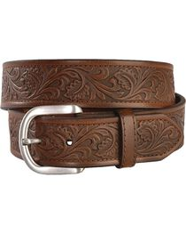 Ariat Golden Tooled Western Belt - Reg & Big, , hi-res