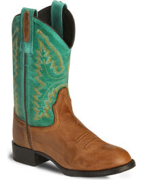 Old West Children's Barnwood Ultra Flex Cowboy Boot, , hi-res
