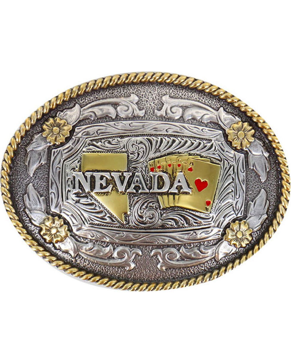 Cody James® Oval Nevada Buckle , Silver, hi-res
