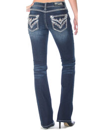Grace in LA Women's Embellished Flap Pockets Jeans - Boot Cut , , hi-res
