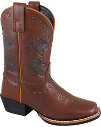 Smoky Mountain Youth Girls' Lilac Western Boots - Square Toe , , hi-res