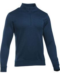 Under Armour Men's Navy Storm Sweater Fleece 1/4 Zip Pullover , , hi-res