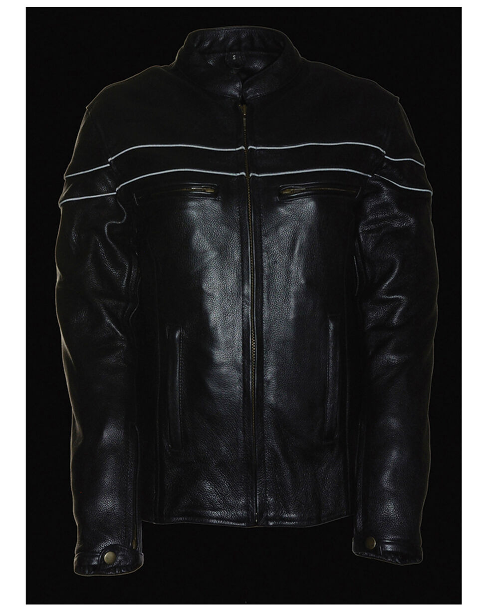 Milwaukee Leather Women's Sporty Scooter Crossover Leather Jacket - 3X, Black, hi-res