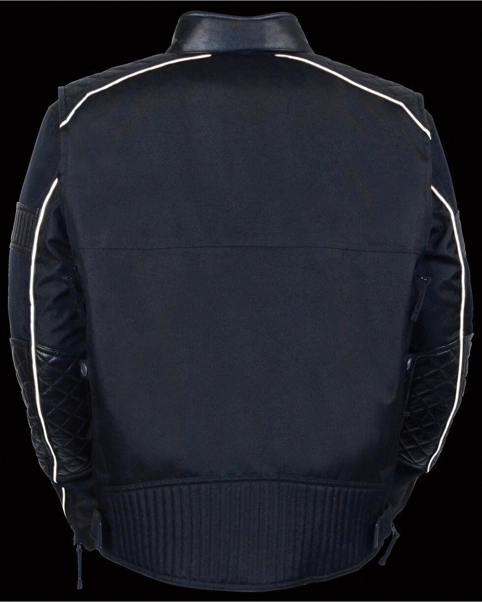 Milwaukee Leather Men's Black Textile Scooter Jacket - 3X, Black, hi-res