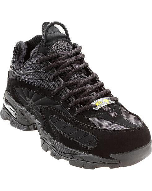 Nautilus Men's Steel Safety Toe Work Shoes, Black, hi-res