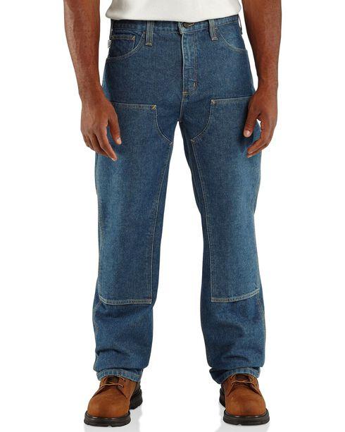 Carhartt Men's Flame Resistant Double Front Jeans, Midstone, hi-res