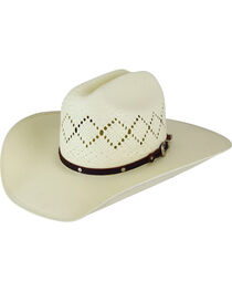 Bailey Men's Hoxie 7X Cattleman Straw Hat, , hi-res