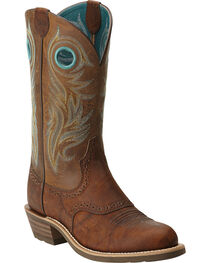 Ariat Women's Shadow Rider Round Toe Western Boots, , hi-res