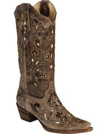 Corral Women's Stud and Inlay Western Boots, , hi-res