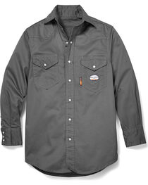 Rasco Men's Flame Resistant Long Sleeve Work Shirt, , hi-res