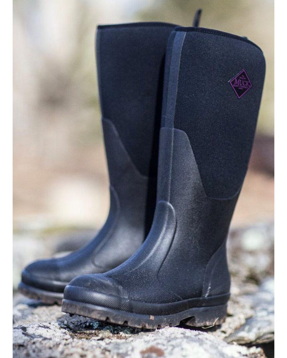 The Original Muck Boot Company Women's Chore Tall Work Boots, Black, hi-res