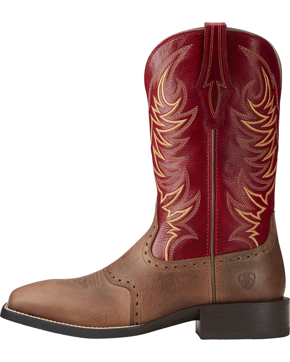 Ariat Men's Sport Sidewinder Performance Cowboy Boots - Square Toe, Brown, hi-res