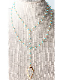 Everlasting Joy Jewelry Women's Turquoise Route 66 Necklace , , hi-res