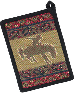 Raakha Imports Bronco Jacquard Pot Holder, No Color, hi-res