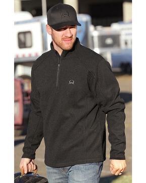 Cinch Men's 1/4 Zip Fleece Pull Over Sweater, Black, hi-res