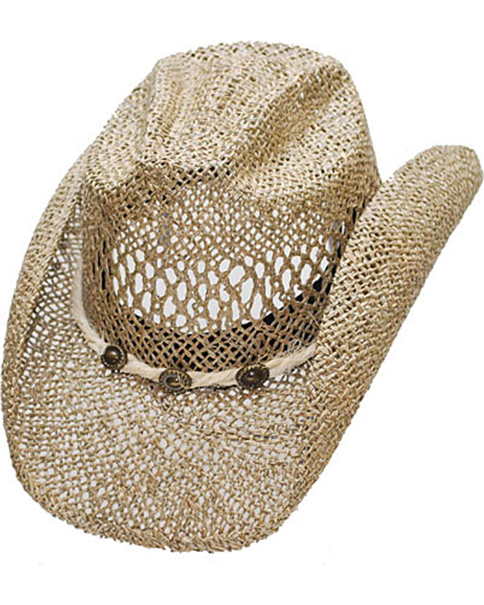 Western Express Women's Seagrass Cowgirl Hat, Beige/khaki, hi-res